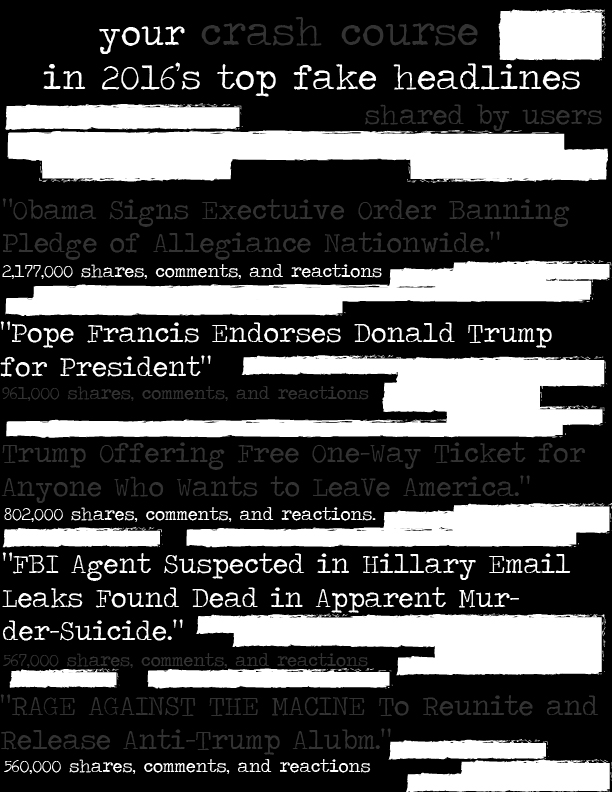 Fake news sidebar